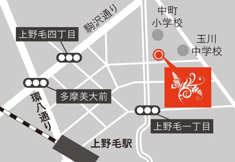 Yosa Ann 世田谷 アクセスマップ