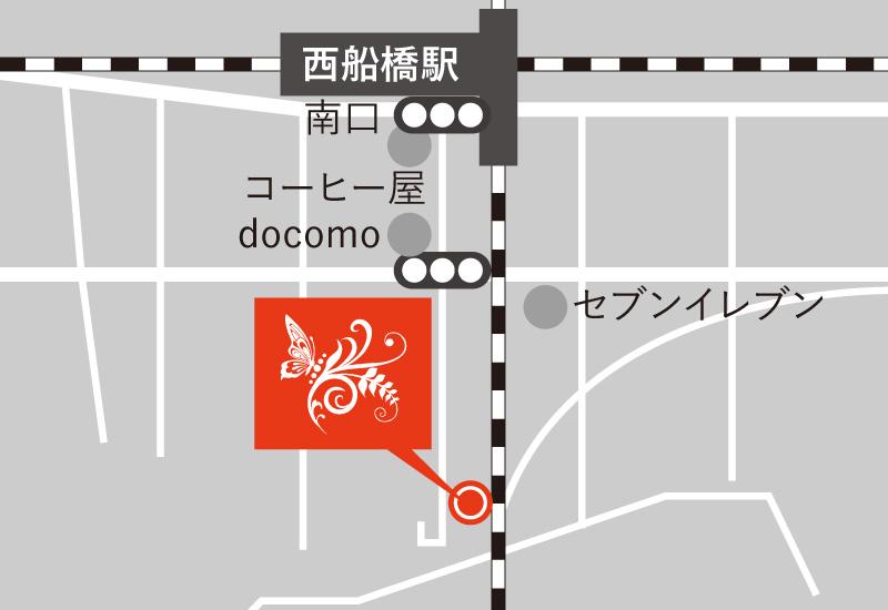 Yosa Ann 西船橋 アクセスマップ